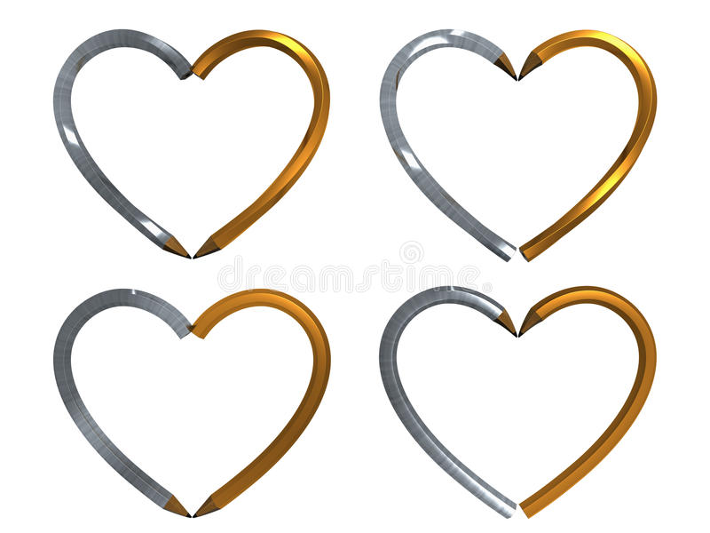 Download Pen In Heart Shape Isolated Stock Image - Image: 12636161