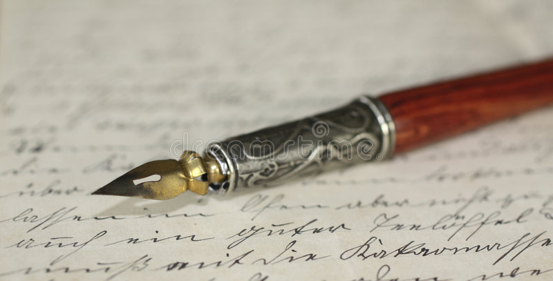 Download Pen holder and letter stock illustration. Image of paper - 7558406
