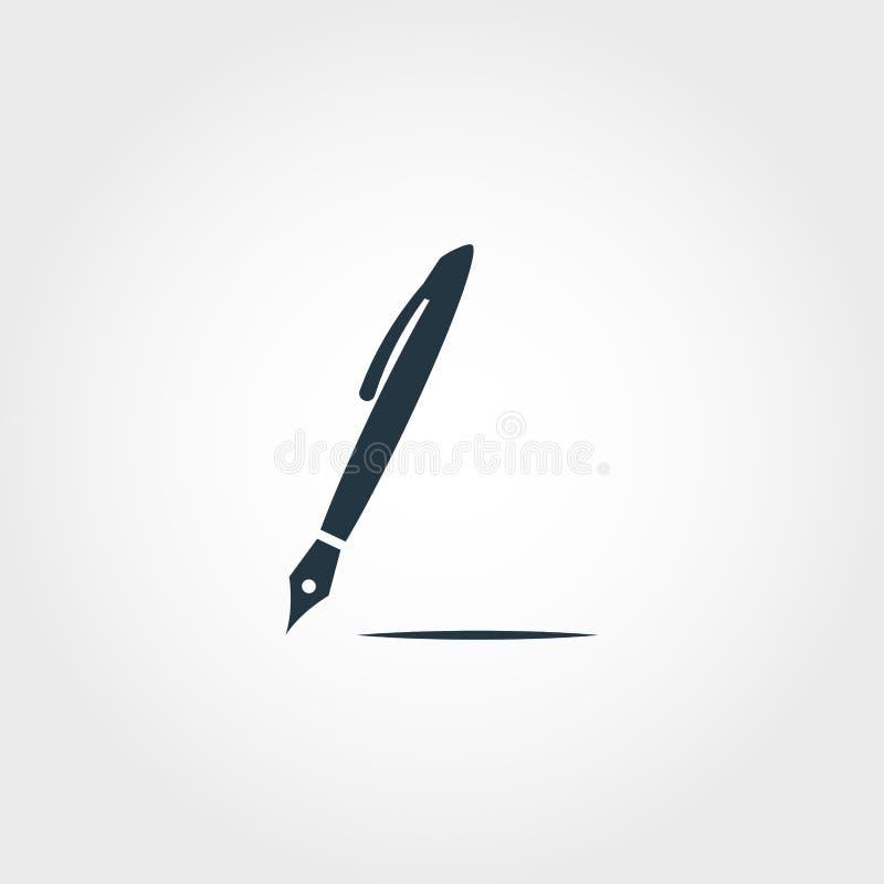 Pen icon. Premium monochrome design from education icon collection. Creative pen icon for web design and printing usage. Pen icon. Premium monochrome design royalty free illustration