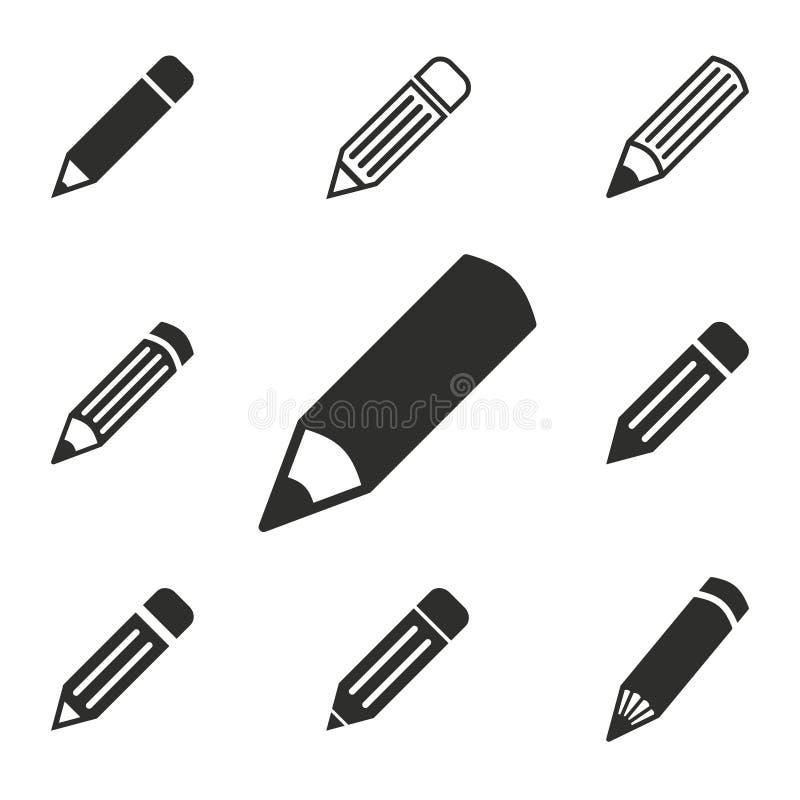 Pen Icon Set vector illustratie