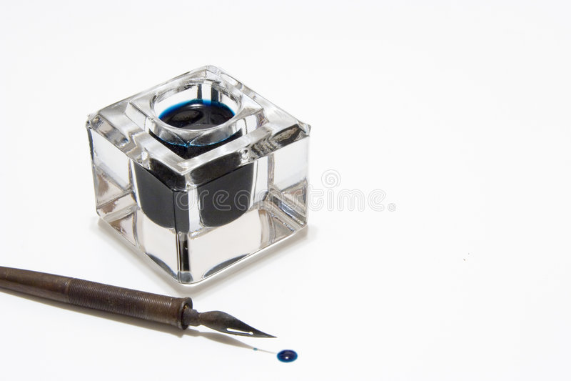 Pen and Inkwell stock photos