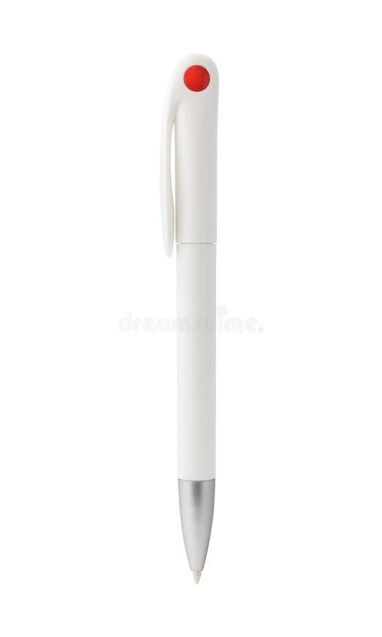 Pen isolerade p? vitbakgrund Mall av kulspetspennan f?r din design royaltyfri fotografi