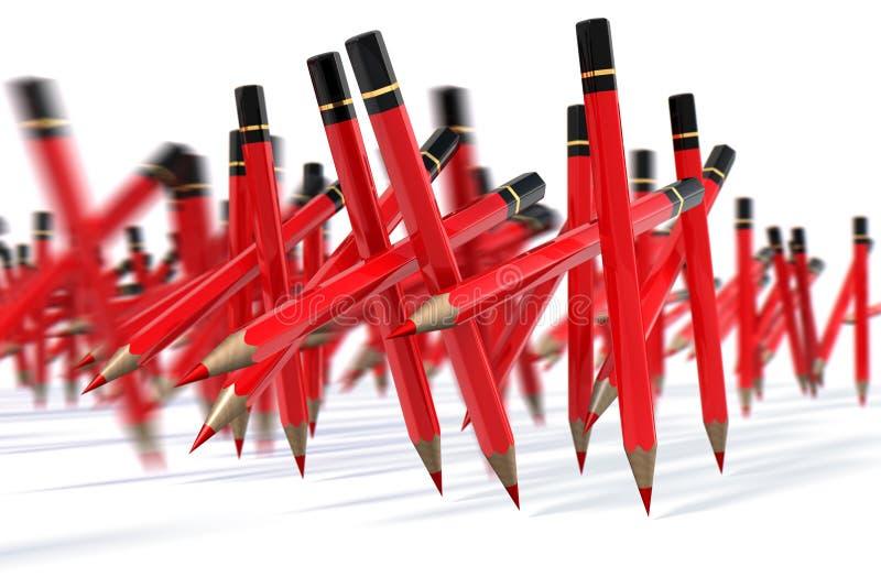 Pen March rouge illustration libre de droits