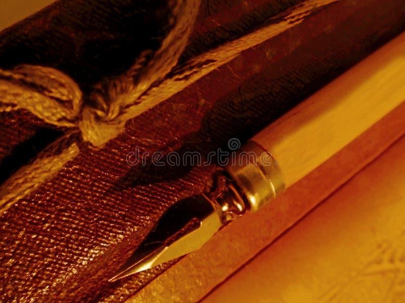 Pen met album royalty-vrije stock foto's