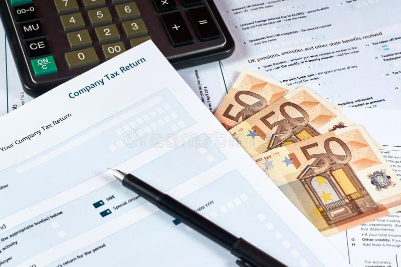 Company tax return form royalty free stock photos