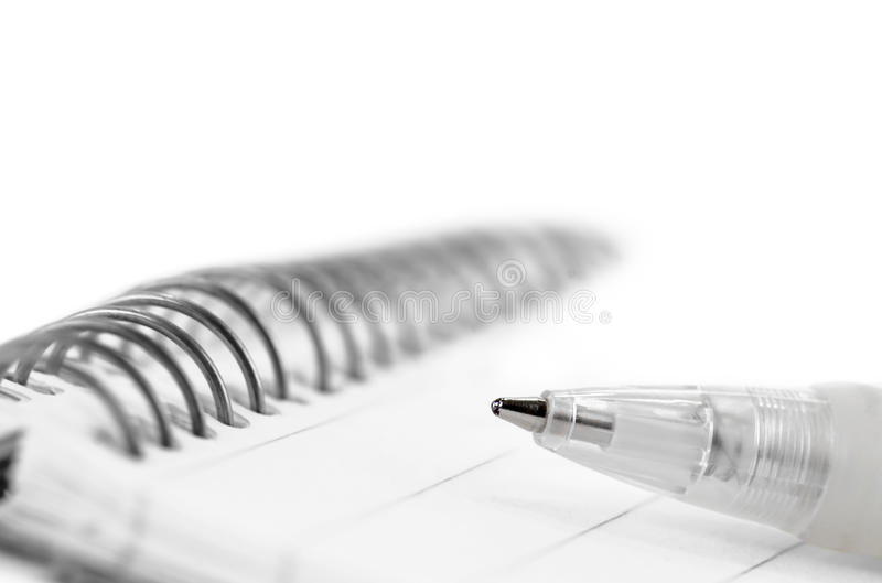 Download Pen and note pad stock photo. Image of white, close, documentation - 28817040
