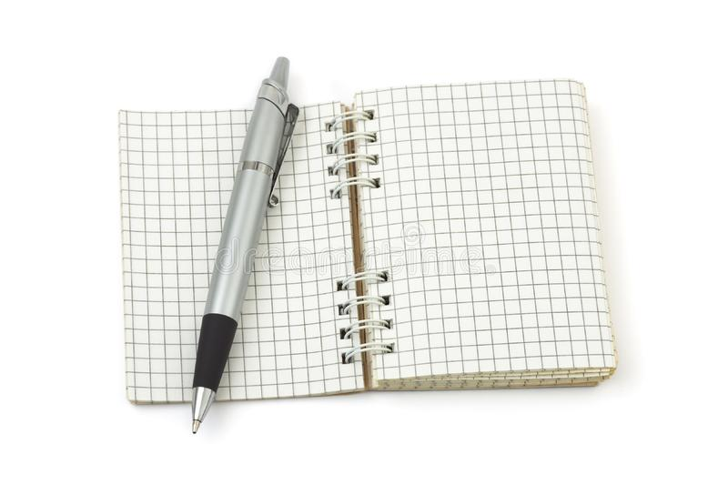 Pen and note pad royalty free stock images