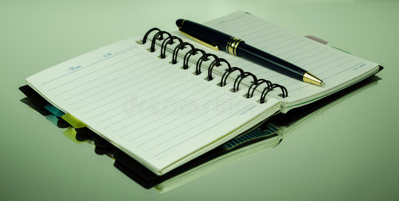 Download Pen and notebook stock image. Image of office, equipment - 37666253