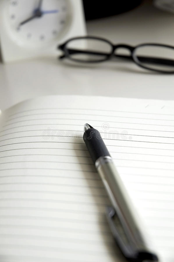 Download Pen on notebook stock photo. Image of note, memo, office - 31874356