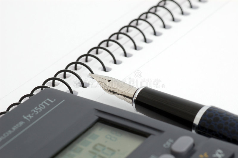 Download Pen, Notepad And Calculator Stock Photo - Image: 3179336