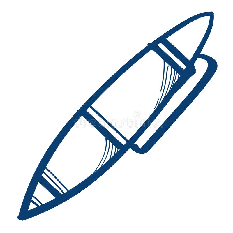 Pen, office supplies icon on a white background. Design elements in hand drawn style.  royalty free illustration