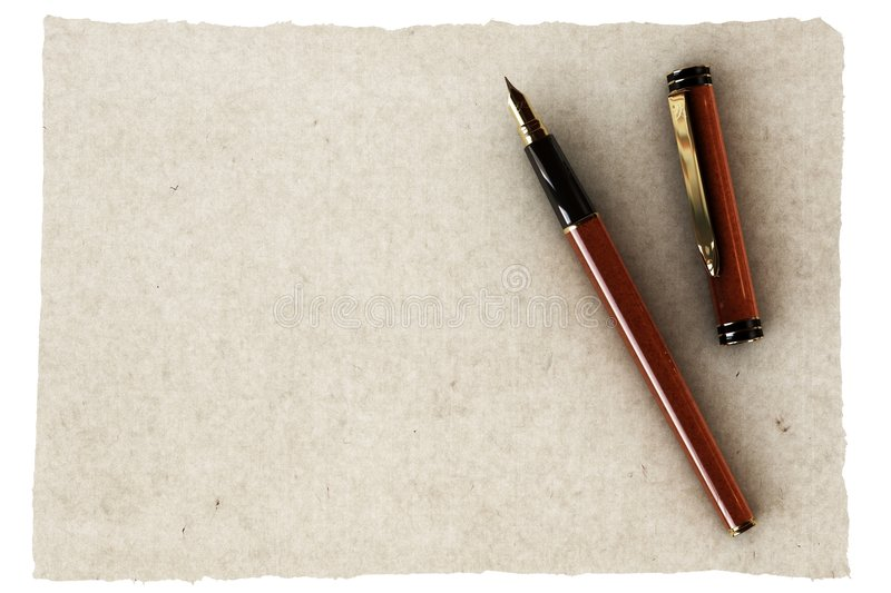 Download Pen And Old Paper Stock Photography - Image: 3411712