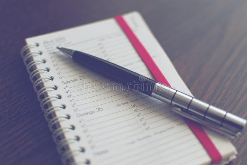 Pen op programma stock afbeelding