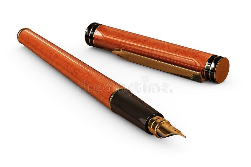 Pen op Wit royalty-vrije stock afbeeldingen