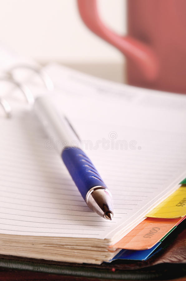 Download Pen on open notebook stock image. Image of business, objects - 26812687