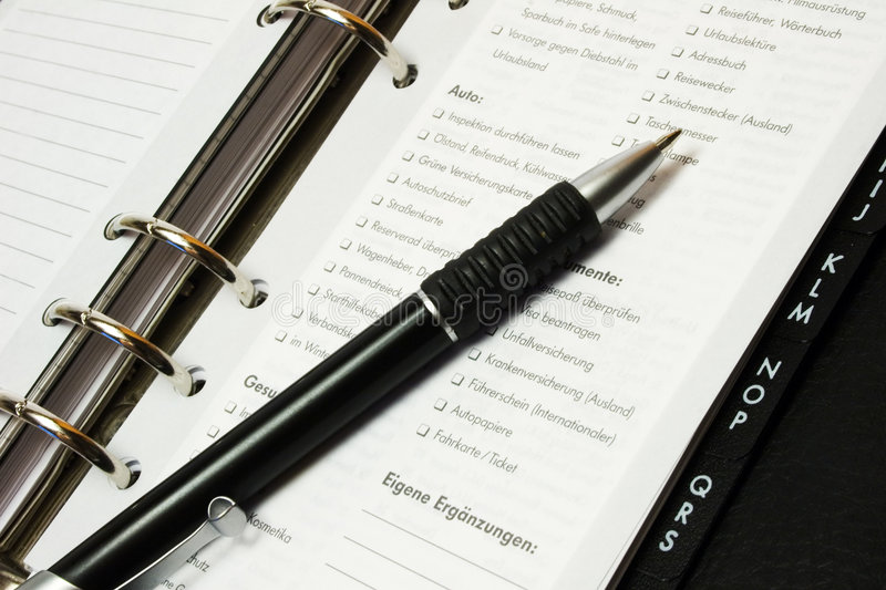 Download Pen And Organizer Royalty Free Stock Photos - Image: 2929898