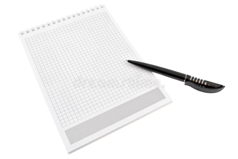 Pen Over Note Pad  Book Stock Images