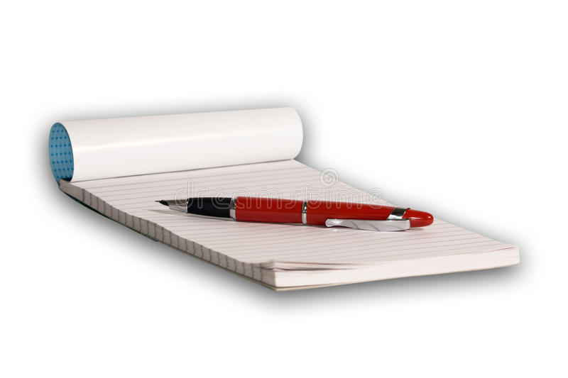 Pen and pad royalty free stock photography