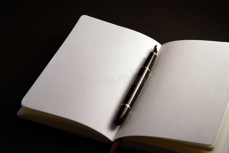 Download Pen Between the Pages stock image. Image of sketch, note - 1746759