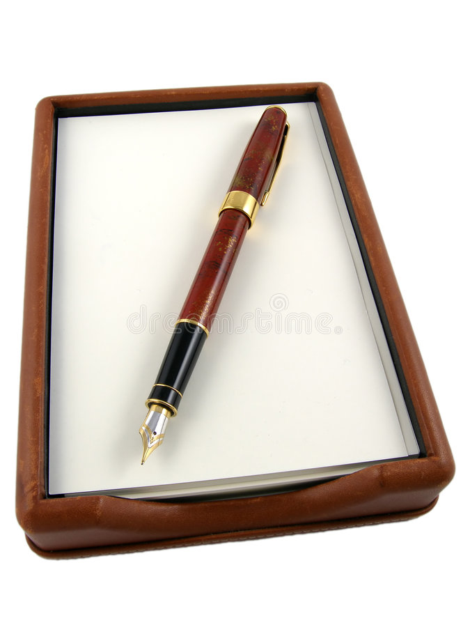 Pen & paper royalty free stock image
