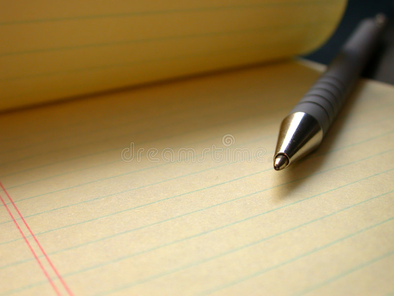 Pen and Paper royalty free stock image