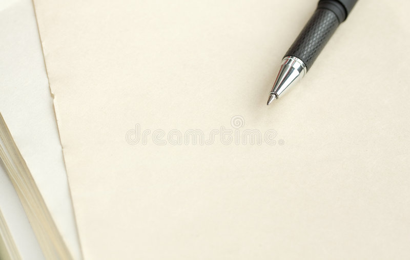 Download Pen on a paper. stock photo. Image of paper, write, backgrounds - 8856560