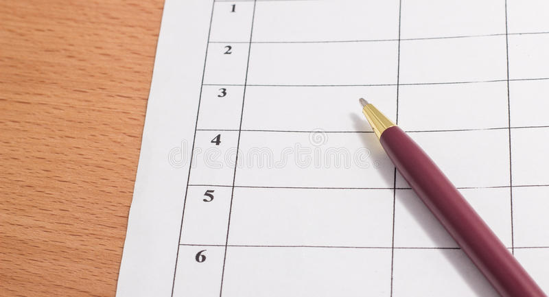 Download Pen And Paper Stock Photo - Image: 83721965