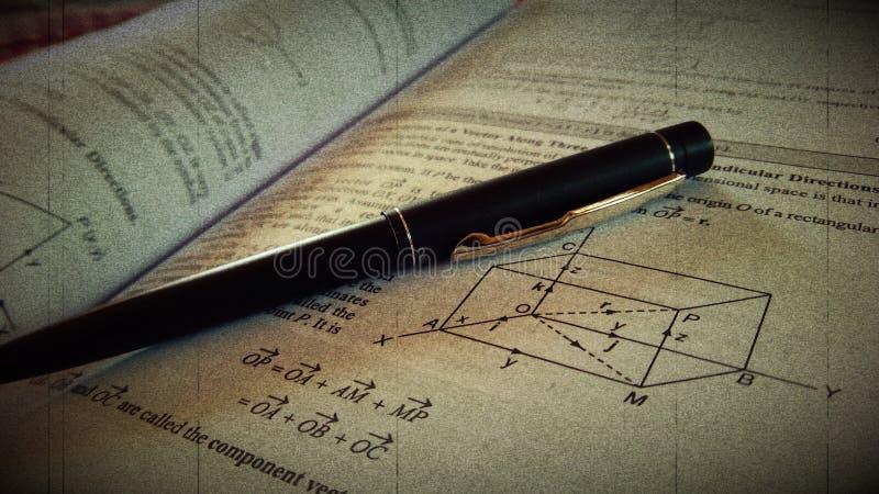 Pen Paper-Weinlesekunstwerk stockfotos