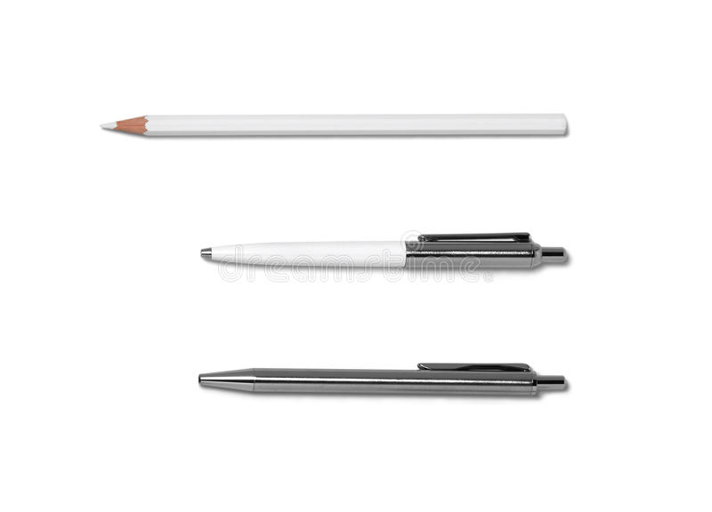 Pen & Pencil royalty free stock images