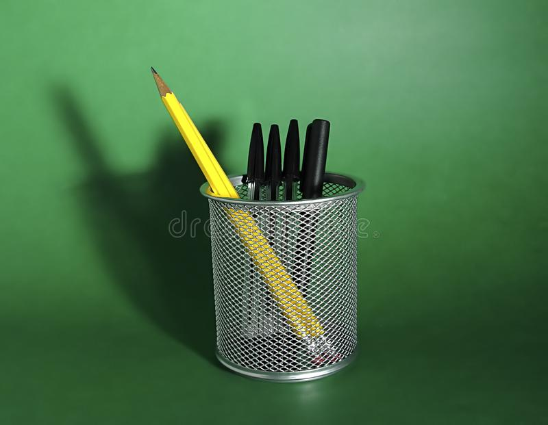 Download Pen and Pencil Holder stock photo. Image of metaphor, detail - 11854