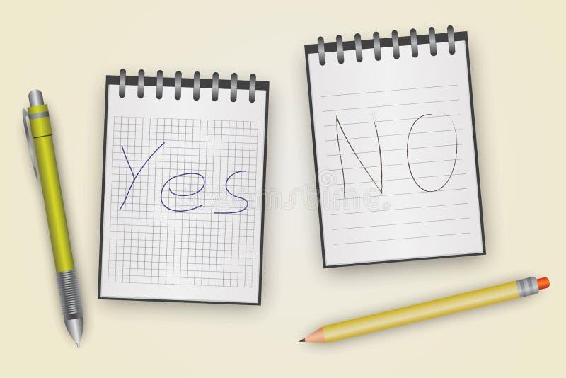 Pen Pencil Notepad ilustração do vetor