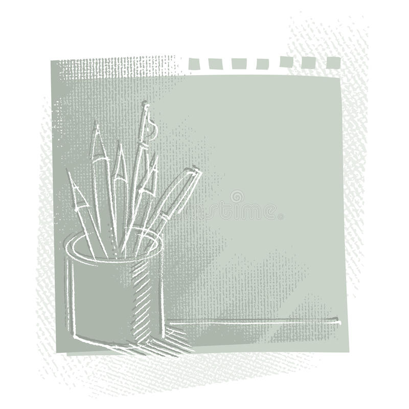 Download Pen And Pencils, Freehand Drawing Stock Photography - Image: 19703412