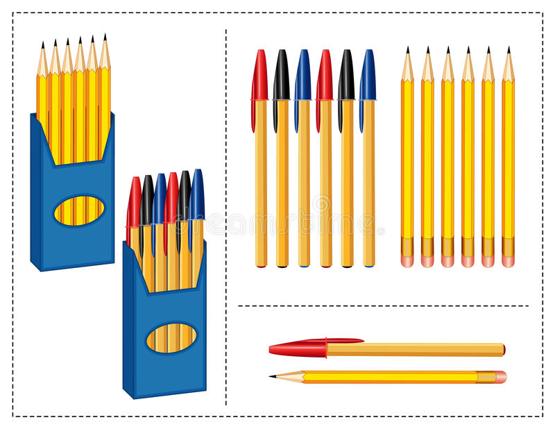 Download Pen And Pencils Set Stock Photos - Image: 17718463