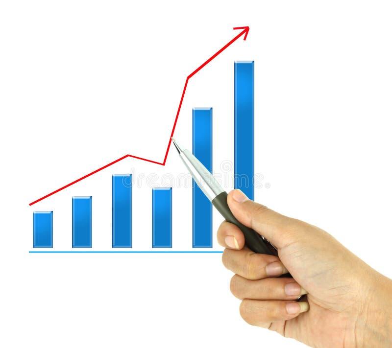 Pen Pointer A Graph On White Royalty Free Stock Photo