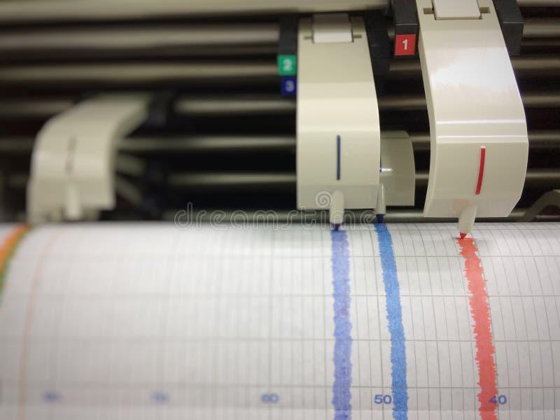 Pen Recorder Chart stock afbeelding