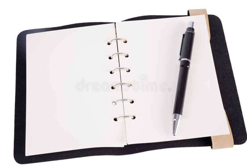 Download Pen Resting On A Blank Note Pad Stock Photo - Image of document, color: 40965124