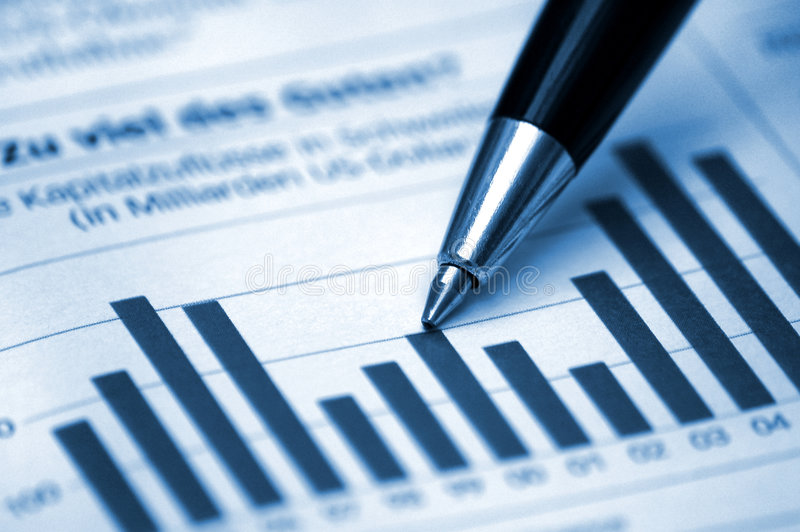Download Pen Showing Diagram On Financial Report Stock Image - Image: 4118451