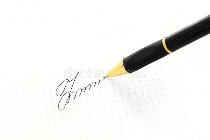 Download Pen And Signature Royalty Free Stock Photos - Image: 6525208