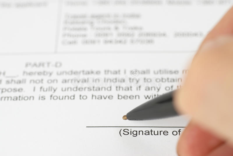 Download Pen signing contract stock image. Image of professional - 21756613