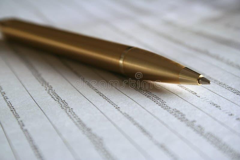 Pen and Statistics royalty free stock photos