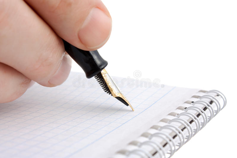 Pen ter beschikking stock foto