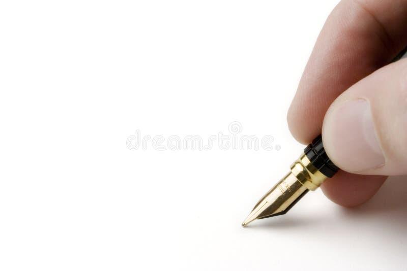 Pen on White stock photos