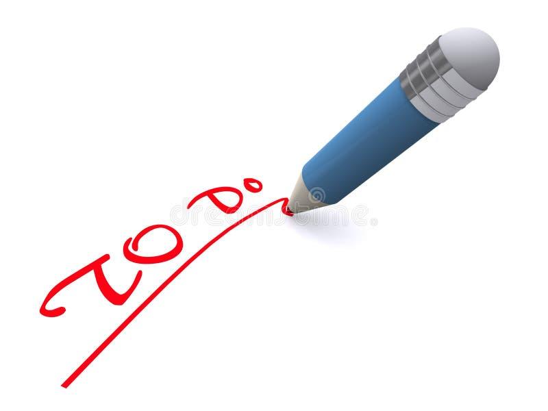 Pen writing words to do stock photo