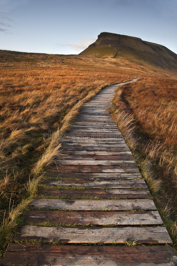 Pen-y-Ghent in Yorkshire Dales royalty free stock images