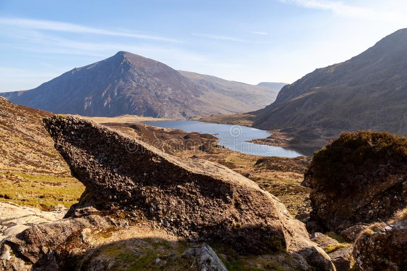 Pen Yr Ole Wen, Snowdonia fotografía de archivo libre de regalías