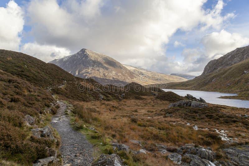 Pen Yr Ole Wen y Llyn Idwal, Snowdonia fotos de archivo libres de regalías