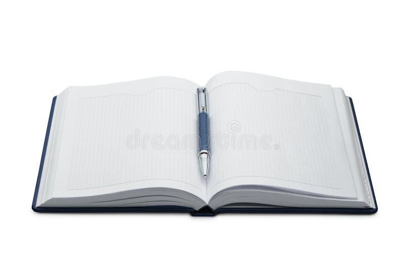 Download Pena acima de um caderno foto de stock. Imagem de aberto - 12807226