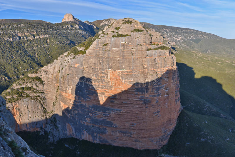 Pena Aman naturalna brama Salto De Roldan w Aragon obraz royalty free