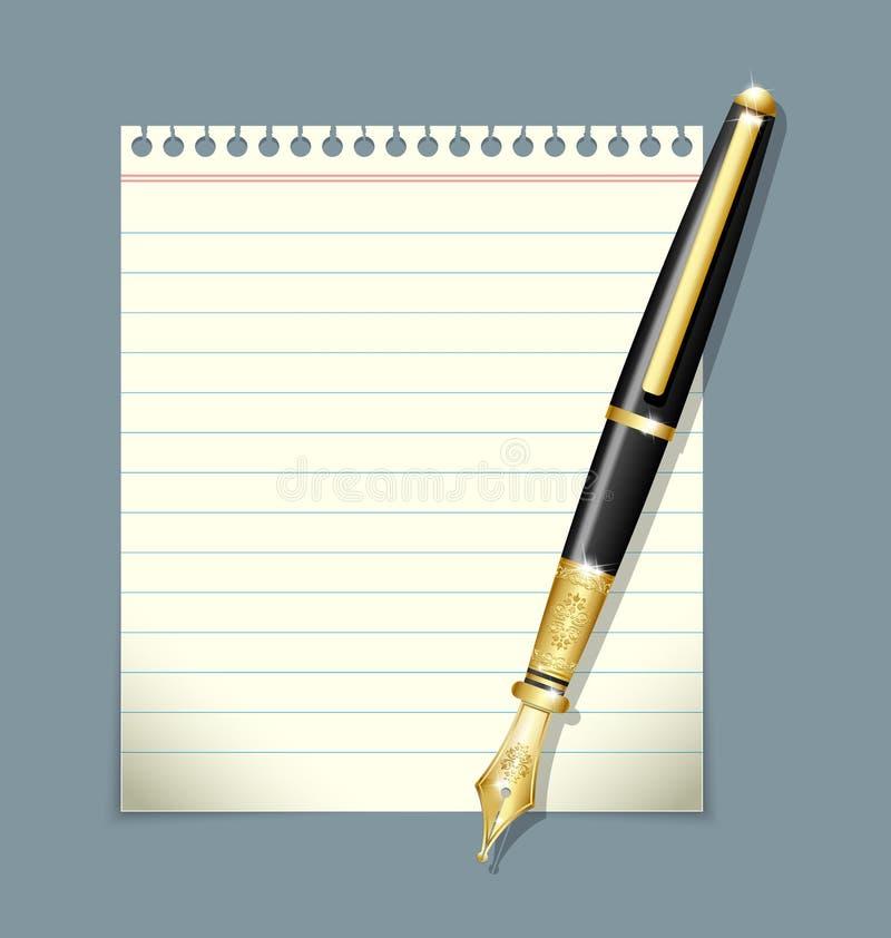 Download Pena Da Tinta E Ilustração Da Folha Do Papel Ilustração do Vetor - Ilustração de elegante, ilustração: 26510796
