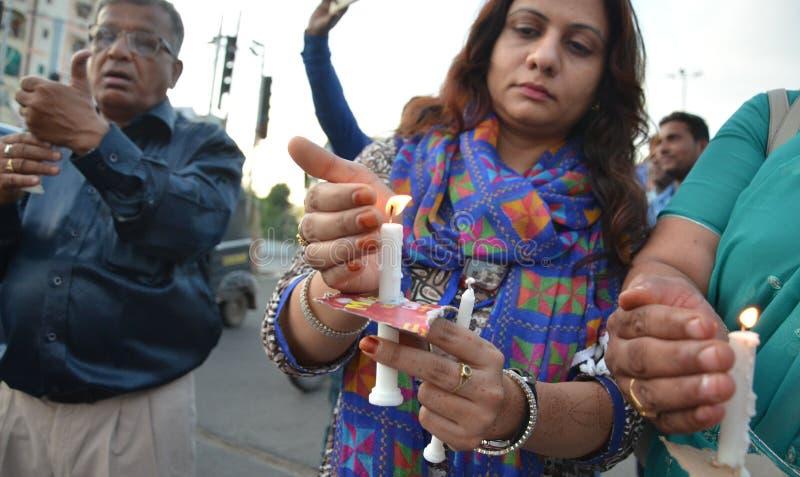 Pena de morte de exigência contra violadores foto de stock royalty free
